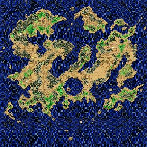 梦幻之星4-蒙塔比亚世界地图